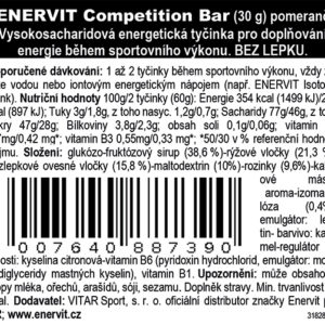 Competition Bar – pomeranč (30 g)