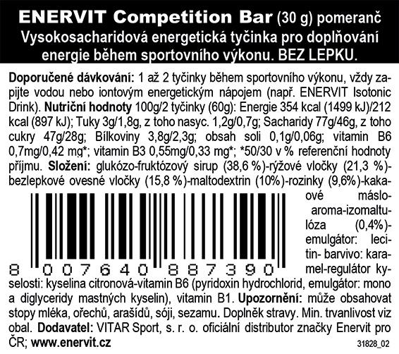 Competition Bar – pomeranč (30 g)