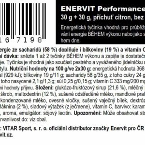 Performance Bar – citron (30 + 30 g)