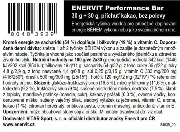 Performance Bar – kakao (30 + 30 g)