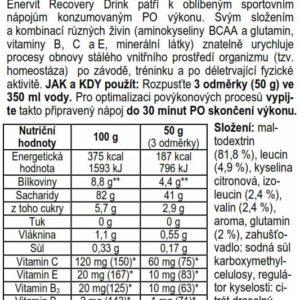 Recovery Drink – pomeranč (400 g)