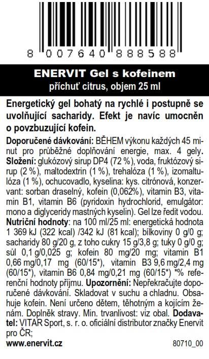 Gel s kofeinem – citrus (25 ml)
