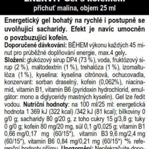 Gel s kofeinem – malina (25 ml)