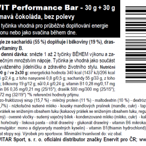 Performance Bar – tmavá čokoláda (30 + 30 g)