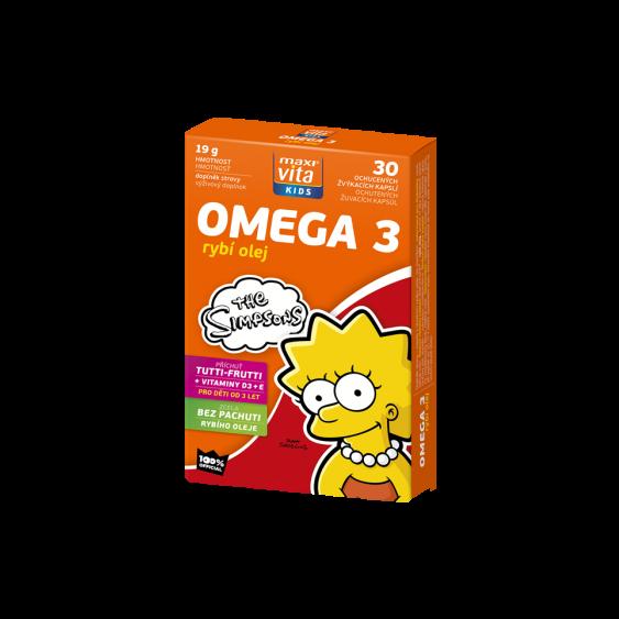 MaxiVita Kids Omega 3 +vitaminy D a E